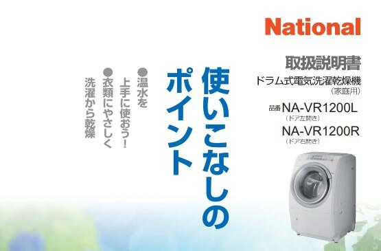 ドラム式洗濯機NA-VR1200の脱水が止まるので設定を変えてみた